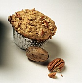 Pecan Muffin with Whole Pecans