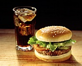 Hamburger with a Glass of Coke
