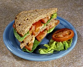 Lettuce and Tomato Sandwich on Whole Wheat