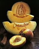 Fruit Still Life; Cantaloupe and Peach
