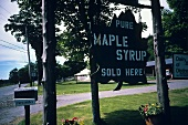 A Sign For Maple Syrup at a Maple Syrup Farm
