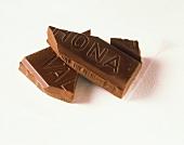 Chocolate Bar Broken into Pieces