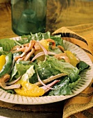 3Salad with Roast Beef and Mandarin Oranges