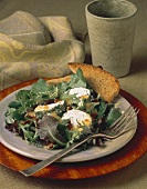 Baby Green Salad with Goat Cheese