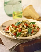 Penne with Herb Sauce and Tomatoes