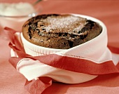 Chocolate Souffle with Powdered Sugar