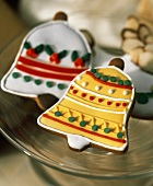 Two Bell Shaped Christmas Cookies