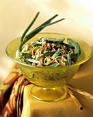 Asian Noodles with Vegetables and Ham
