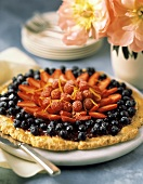 Colorful Three Berry Tart