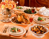 Roast Turkey with Side Dishes for Passover