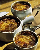 Onion Soup in Soup Tureens