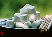 A Bowl of Marshmallows For Toasting Over a Campfire