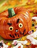 Pumpkin Shaped Cake for Halloween