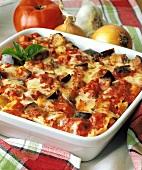 Garden Lasagna in a Baking Dish