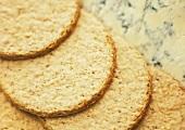 Oatcake Crackers and Stilton Cheese