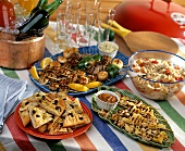 Buffet of Grilled Appetizers for a Summer Party