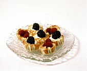 Phyllo Dough Shells with Cream and Fruit