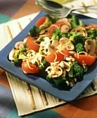 Warm Broccoli Salad with Tomatoes