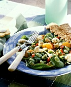 Spinach and Lima Bean Salad