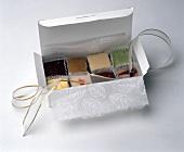 Assorted fudge in a box