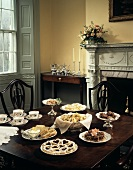 Assorted Cookies Set Up in the Dining Room for Tea