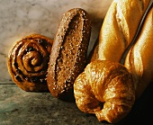 Danish; Croissant; French Bread; Wheat Roll