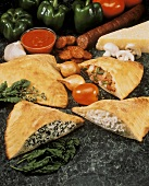 Three Assorted Calzones