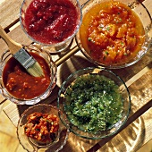 Assorted Homemade Barbecue Sauces