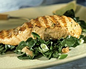 Grilled Salmon Over Watercress Salad