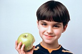 Young Boy with a Half Eaten Apple