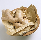 Ginger Root in a Bowl