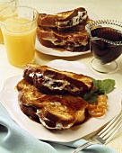 French Toast Stuffed with Cherries and Cream Cheese