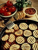 Grilling Eggplant and Bread