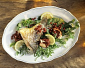 Fish and Pomegranate on a Platter