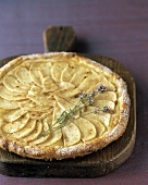 Whole apple tart with lavender