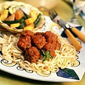 Fettucine with Meatballs