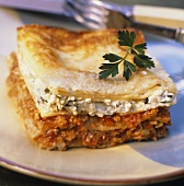 Lasagne alla romana (Lasagne with ricotta and mince)