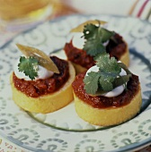 Mexican Style Polenta Rounds