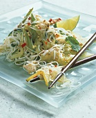 Asian Noodles with Crab Meat and Star Fruit
