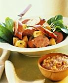 German Potato Salad with Sausage