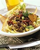 Chili Beef Taco Salad
