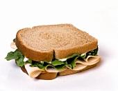 A Turkey Sandwich on Wheat