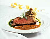Roast Beef with Fried Onions