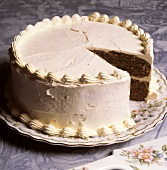 Carrot Cake with a Slice taken Out
