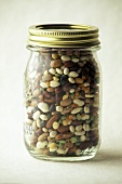 Assorted Dried Beans and Peas in a Jar