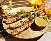 Marinated Chicken Satay w/ Peanutbutter dipping Sauce