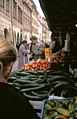 Outdoor Produce Market in Prague