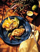 Spicy Grilled Citrus Chicken with Fruit Salad