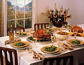 Thanksgiving Table Scene