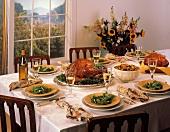 Thanksgiving Table Scene